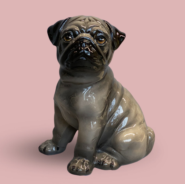 Statuette Brown Pug
